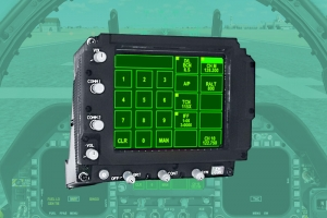 F-18 Up-Front Control Display (UFCD)