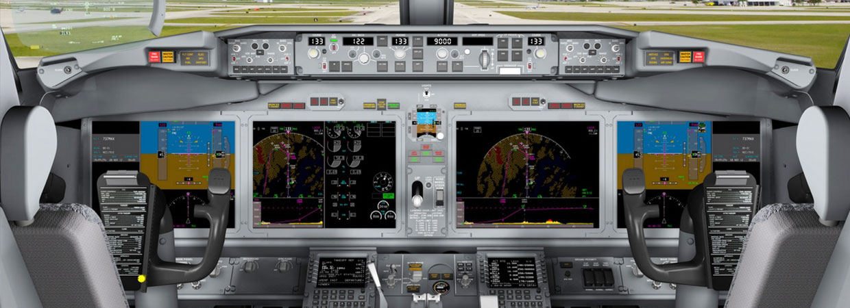 Simulated Commercial Displays - B737 MAX